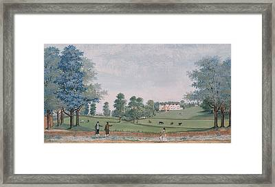 The Great House And Park At Chawton Framed Print by Adam Callander