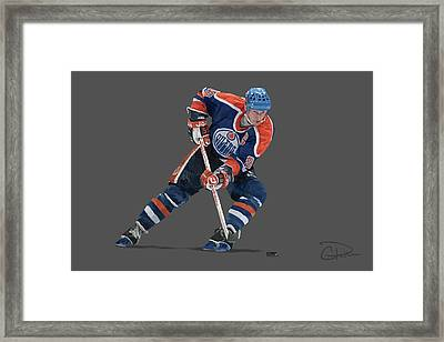 Gretzky Framed Print by Charley Pallos