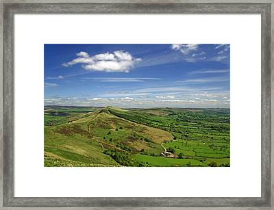 The Great Ridge And The Hope Valley Framed Print by Rod Johnson