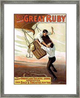 The Great Ruby Framed Print by Terry Reynoldson