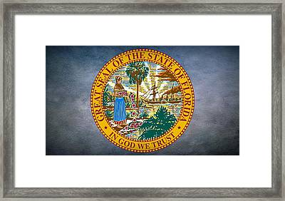 The Great Seal Of The State Of Florida Framed Print by Movie Poster Prints