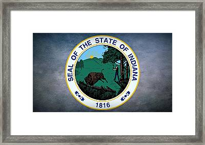 The Great Seal Of The State Of Indiana  Framed Print by Movie Poster Prints