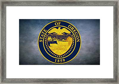 The Great Seal Of The State Of Oregon  Framed Print by Movie Poster Prints