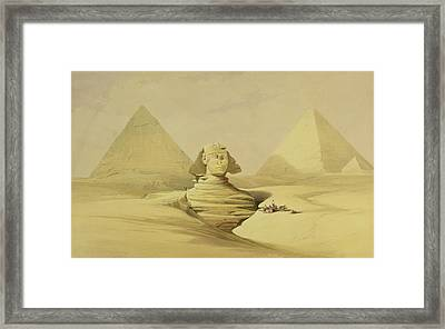 The Great Sphinx And The Pyramids Of Giza Framed Print by David Roberts