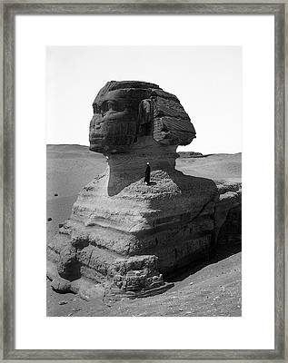 The Great Sphinx Of Egypt  1900 Framed Print by Daniel Hagerman