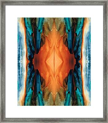 The Great Spirit - Abstract Art By Sharon Cummings Framed Print by Sharon Cummings