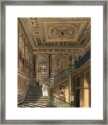 The Great Staircase At Kensington Framed Print by Charles Wild