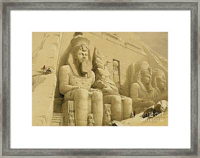 The Great Temple Of Abu Simbel Framed Print by David Roberts
