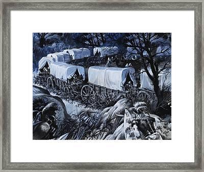 The Great Trek Framed Print by Andrew Howat