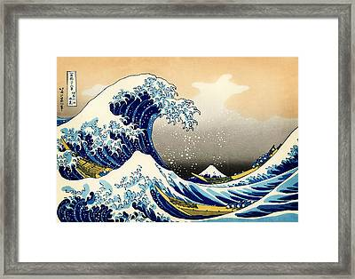 The Great Wave At Kanagawa Framed Print by Katsushika Hokusai