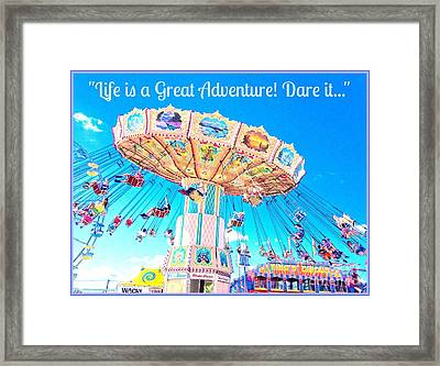The Greatest Adventure Framed Print by Beth Saffer