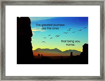 The Greatest Journeys Framed Print by Mike Flynn
