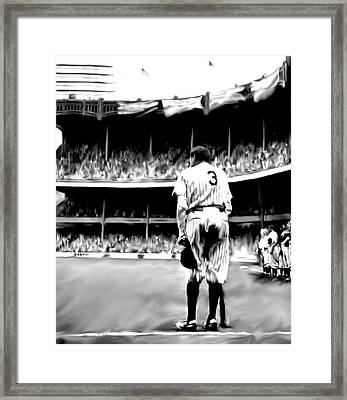 The Greatest Of All  Babe Ruth Framed Print by Iconic Images Art Gallery David Pucciarelli