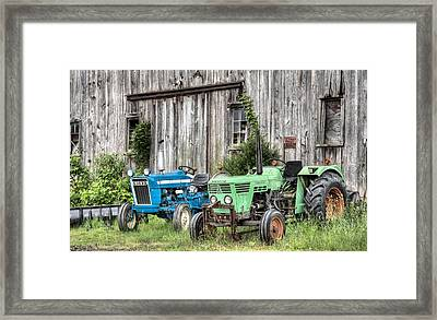 The Green Duetz Framed Print by JC Findley