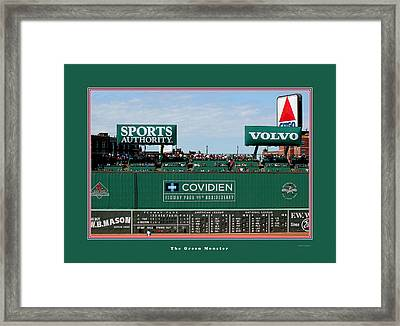 The Green Monster Fenway Park Framed Print by Tom Prendergast
