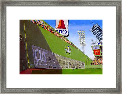 The Green Monster Framed Print by Mike Gruber