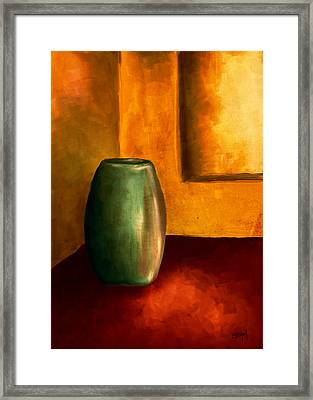 The Green Urn Framed Print by Brenda Bryant
