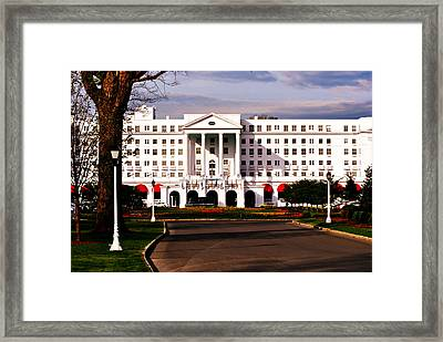 The Greenbrier Resort Framed Print by Chastity Hoff