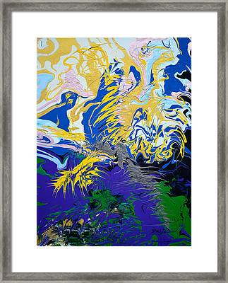 The Grinch's Thunder Framed Print by Donna Blackhall