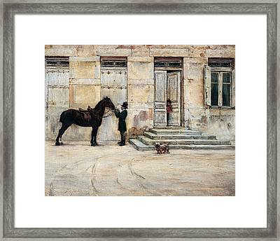 The Groom  Framed Print by Giuseppe De Nittis