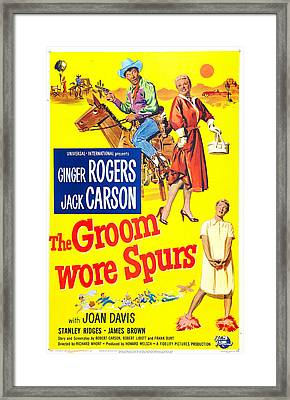 The Groom Wore Spurs, Us Poster Framed Print by Everett
