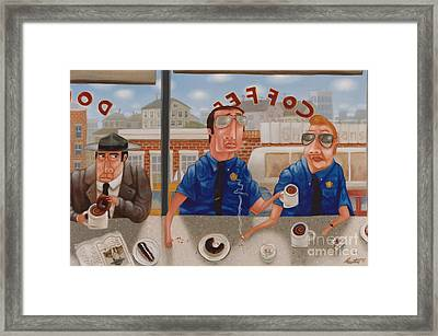 The Guilty Guy 1993 Framed Print by Larry Preston