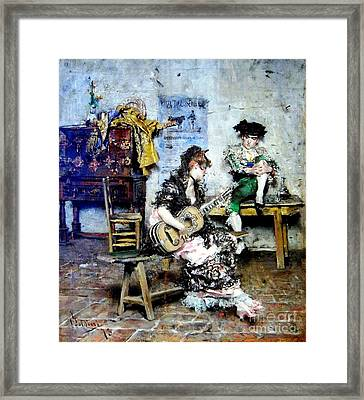 The Guitar Player Framed Print by Pg Reproductions