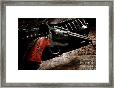 The Gun That Won The West Framed Print by Olivier Le Queinec