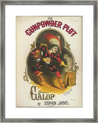 The Gunpowder Plot Galop Framed Print by British Library