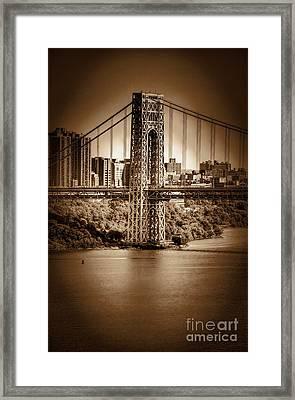 The Gwb Framed Print by Arnie Goldstein