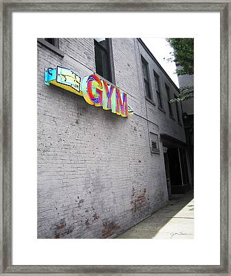The Gym Framed Print by Julie Magers Soulen