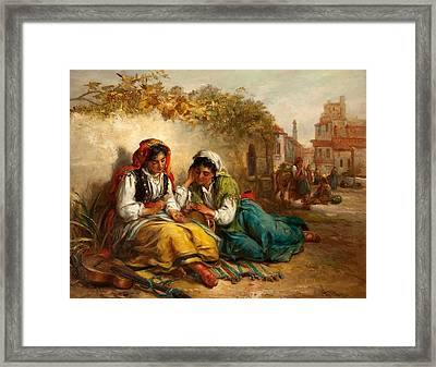 The Gypsies Framed Print by Thomas Kent Pelham