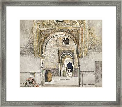 The Hall Of The Two Sisters Framed Print by John Frederick Lewis