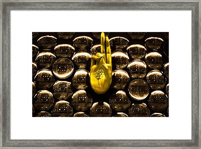 The Hand Of Peace Framed Print by Arjun Jamil