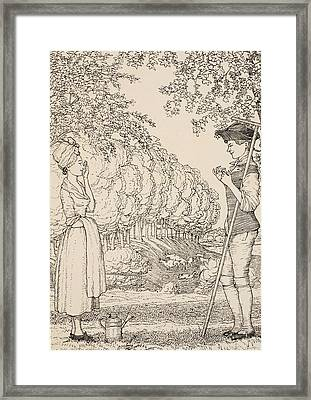 The Happy Agreement Framed Print by Konstantin Andreevic Somov