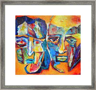 The Happy Couple Framed Print by Diane Fine