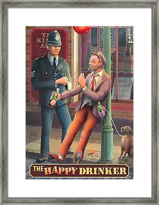 The Happy Drinker Framed Print by Peter Green