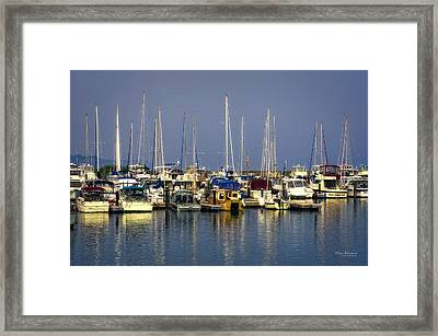 The Harbor After The Storm Framed Print by Mary Machare