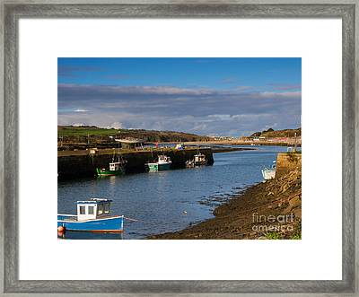 The Harbour At Hayle Cornwall Framed Print by Louise Heusinkveld
