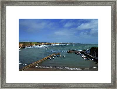 The Harbour In Winter, Boatstrand,the Framed Print by Panoramic Images