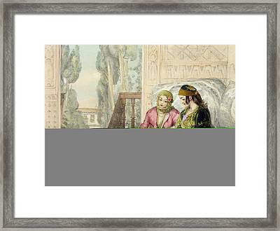 The Harem, Plate 1 From Illustrations Framed Print by John Frederick Lewis
