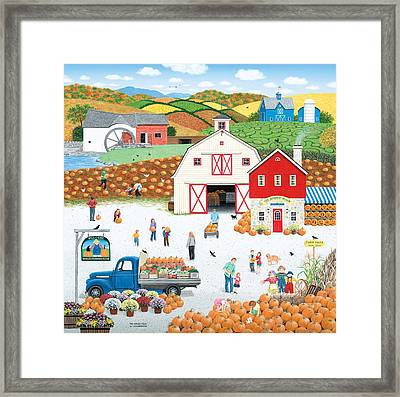 The Harvest Moon Framed Print by Wilfrido Limvalencia