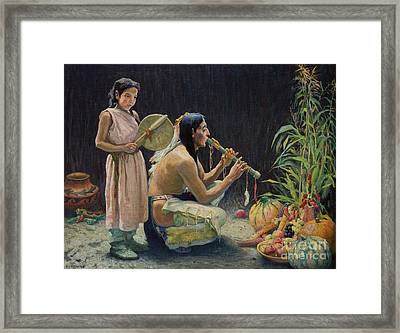 The Harvest Song Framed Print by Celestial Images