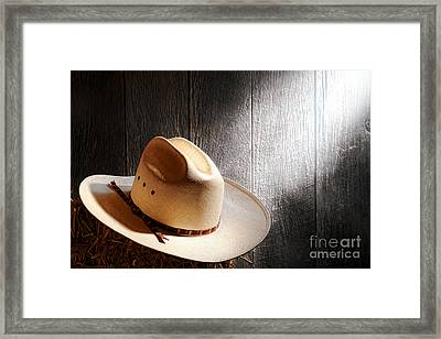 The Hat Framed Print by Olivier Le Queinec