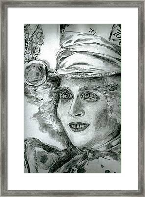 The Hatter Framed Print by Brooke Spoelman