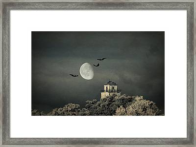 The Haunted House Framed Print by Heike Hultsch