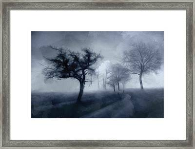The Haunted Road Framed Print by Stefan Kuhn