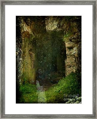 The Haunting Of Minard Castle- Mixed Media Photo Composite Framed Print by Patricia Griffin Brett