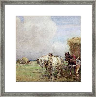 The Hay Wagon Framed Print by Nathaniel Hughes John Baird