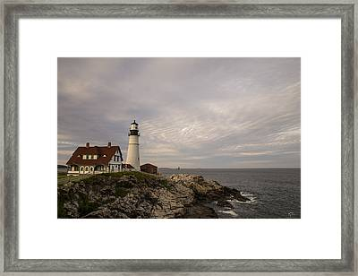 The Head Light Framed Print by Karol Livote
